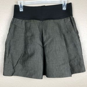 Zara Women Medium Olive Green Stretch Mini Skirt